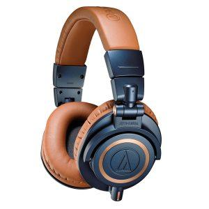Audio Technica ATH M50X Headphones brown