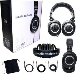 Audio Technica ATH M50X Headphones package
