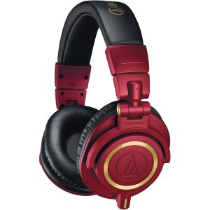 Audio Technica ATH M50X Headphones dark red