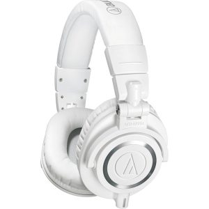 Audio Technica ATH M50X Headphones dark white